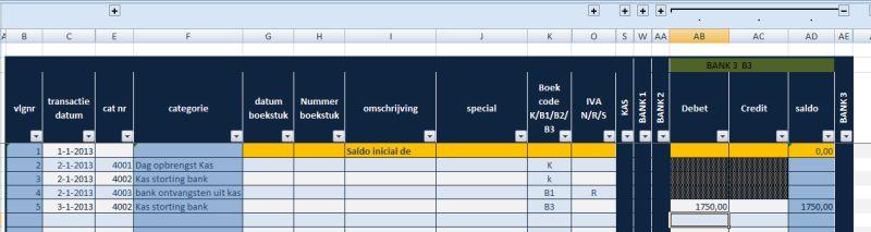 kas- bankboek Nderlandstalig voor spaanse administratie: alleen bankboek geopend
