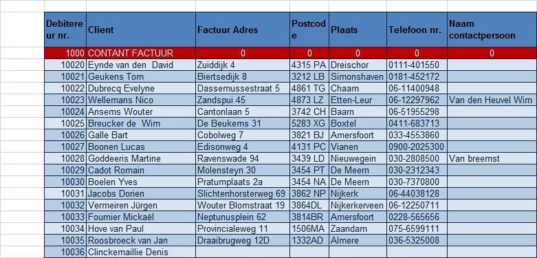 factuur in Excel   excel spreadsheet.nl